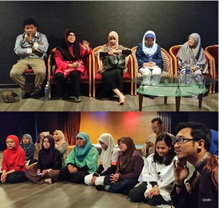 Sharing session with the cancer survivors after program